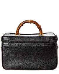 Gucci - Black Leather Bamboo Vanity - Lyst