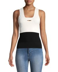Narciso Rodriguez - Black Colorblocked Tank Top - Lyst