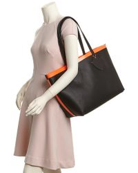 Burberry Orange Medium Giant Reversible Canvas Check & Leather Tote