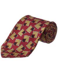 Chanel - Red Silk Tie for Men - Lyst