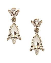 Sparkling Sage - Metallic 14k Plated Crystal & Resin Drop Earrings - Lyst