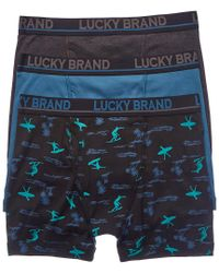 Lucky Brand - Blue 3pk Boxer Briefs for Men - Lyst