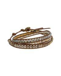 Chan Luu - Metallic Silver & Leather Gemstone Bracelet - Lyst