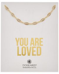 Dogeared - Metallic You Are Loved 14k Over Silver Filigree Chain Choker - Lyst