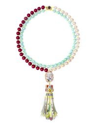 Bijoux De Famille - Multicolor Funky Dollar Tassel Necklace - Lyst
