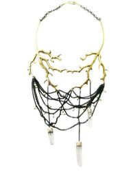 Ayaka Nishi | Metallic Coral And Crystal Necklace | Lyst