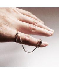 Ayaka Nishi | Metallic Silver Bone Chain Ring | Lyst