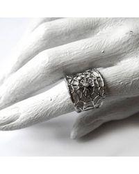 Ayaka Nishi | Metallic Silver Branch Spider Web Ring | Lyst