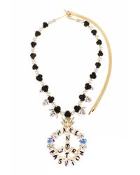 Bijoux De Famille | Metallic Make Fashion Not War Rosary Necklace | Lyst