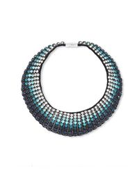 Forest Of Chintz | Blue Fade Ombre Crystal Choker Necklace | Lyst