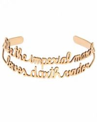 Vanina | Metallic Imperial March Gold Plated Bracelet | Lyst