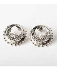 De La Forge | Metallic Echinoidea Palladium Earrings | Lyst