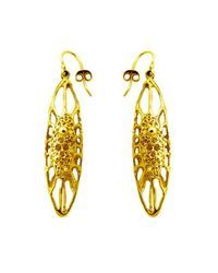 Ayaka Nishi | Metallic Gold Long Cell Earrings | Lyst