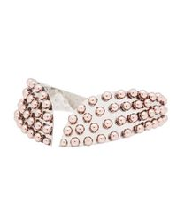 Ellen Conde | Pink Rose Gold Peggy Choker Necklace | Lyst