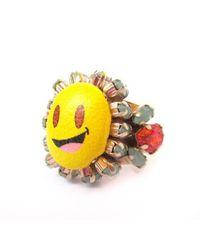 Bijoux De Famille | Multicolor Simley Ring | Lyst