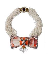 Bijoux De Famille - Orange Eccentric Taj Necklace - Lyst