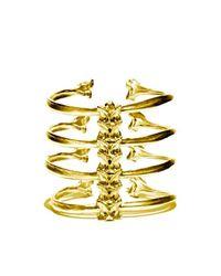 Ayaka Nishi | Metallic Gold 4 Rib Spine Bracelet | Lyst