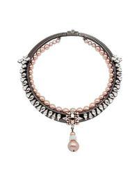 Ellen Conde - Pink Blanche Almond Necklace - Lyst