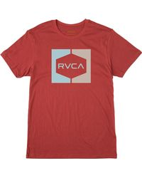 RVCA - Red Invert Hex T-shirt for Men - Lyst