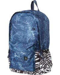 RVCA - Blue Backside Pr Backpack for Men - Lyst