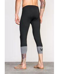 RVCA   Black Compression 7/8 Pants for Men   Lyst