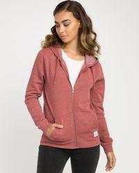 RVCA - Multicolor Label Burnout Fleece Hoodie - Lyst