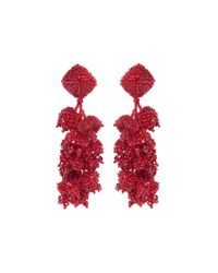 Sachin & Babi | Red Grapes Chunky Beaded Dangle Earrings | Lyst