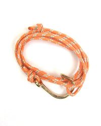Miansai | Multicolor Gold Fish Hook And Salmon Rope Wrap Bracelet | Lyst