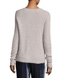 Peserico | Gray Boucle Roundneck Sweater | Lyst