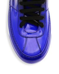 Jimmy Choo - Blue Degrade Leather High-top Sneakers for Men - Lyst