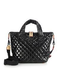 MZ Wallace - Black Small Sutton Tote - Lyst