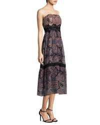 Nanette Lepore - Black Lady Jane Silk Dress - Lyst