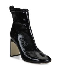Rag & Bone - Black Ellis Patent Leather Ankle Boots - Lyst