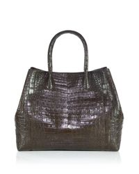Nancy Gonzalez | Brown Large Convertible Crocodile Tote | Lyst