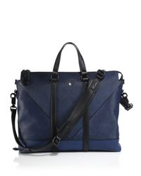 KENZO - Blue Leather Briefcase for Men - Lyst