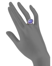 Meira T - Pink Tanzanite, Mother-of-pearl, Diamond & 14k Rose Gold Doublet Ring - Lyst