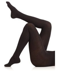 Falke | Black Striggings Cable Tights | Lyst