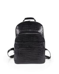 Santiago Gonzalez | Gray Crocodile Backpack for Men | Lyst
