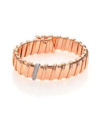 Roberto Coin | Metallic Nabucco Diamond & 18k Rose Gold Bangle Bracelet | Lyst