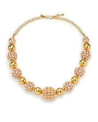 Kenneth Jay Lane | Yellow Cabochon Cluster Beaded Strand Necklace | Lyst