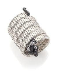 John Hardy | Metallic Legends Cobra Semi-precious Multi-stone, Diamond & Sterling Silver Coil Bracelet | Lyst