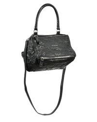 Givenchy | Black Pandora Small Crinkled Leather Shoulder Bag | Lyst