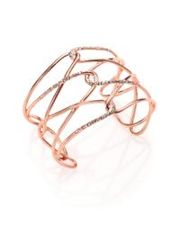 Alexis Bittar | Pink Miss Havisham Liquid Crystal Barbed Cuff Bracelet/rose Goldtone | Lyst