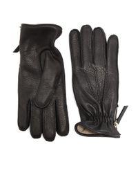 Want Les Essentiels De La Vie - Black Chopin Leather Zip Gloves for Men - Lyst