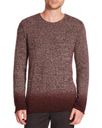 VINCE | Purple Ombre Marled Cashmere Sweater for Men | Lyst