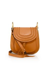Chloé | Brown Hudson Small Studded & Braided Leather Shoulder Bag | Lyst