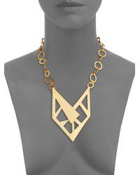 Stephanie Kantis - Metallic Contour Bib Necklace - Lyst