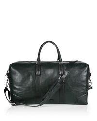 Uri Minkoff | Black Wythe Perforated Leather Weekender Bag for Men | Lyst