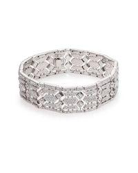 Adriana Orsini | Metallic Pave Crystal Wide Line Bracelet | Lyst