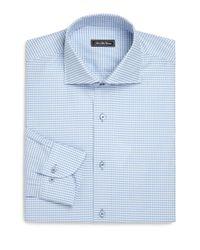 Saks Fifth Avenue | Blue Regular-fit Check Cotton Dress Shirt for Men | Lyst
